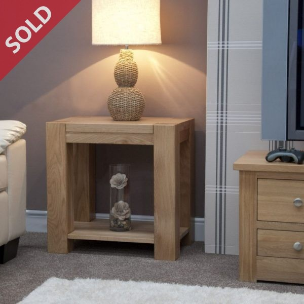 Lamp or side table in solid oak