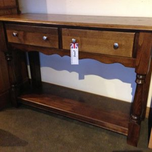 Solid Chestnut Hall Table handmade by Wentworth Furniture in South Yorkshire