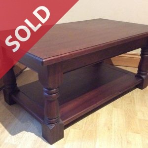 Sapele coffee table handmade by Wentworth Furniture in South Yorkshire