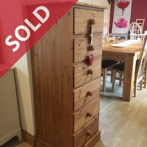 6 Drawer Pine Tallboy made in Yorkshire