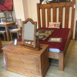 Chunky Pine King Size Bed