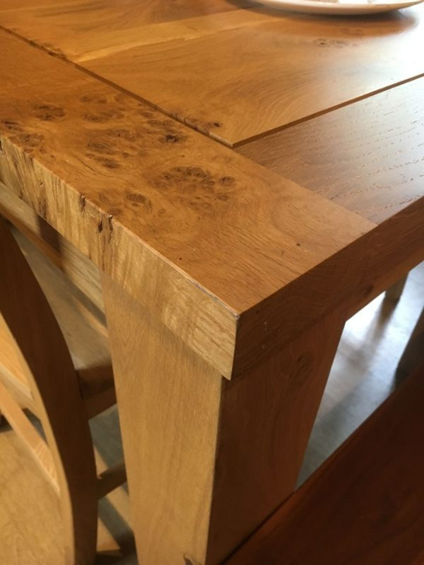 English Pippy Oak Dining Table